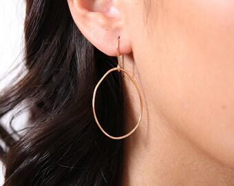 Freeform Hoop Earrings - Gold Hoop Earrings - Chandelier Hoops - Gold Hoops - Hoop Earrings - Silver Hoops