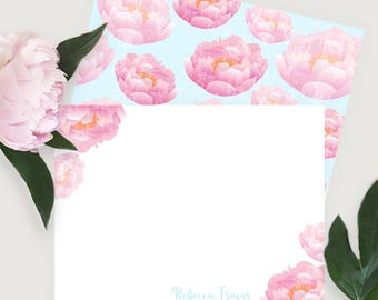 Peony #Stationery - #Personalized #Notes #cards