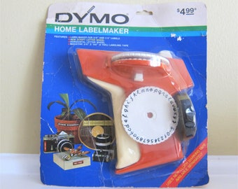 1971 DYMO  Label Maker, Orange, model 1780 Unopened with Tape included