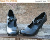 90s Sexy CANDIES GOTH GRUNGE RockStar Rock-A-Billy Swing RoundToed   MaryJane Pumps Worn Once From My Closet Size 7