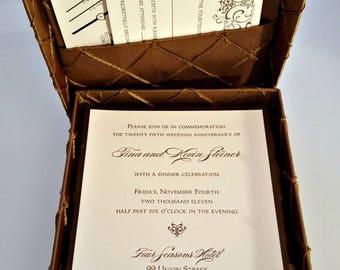 Box Only - Luxurious Pintuck Silk Box Wedding Invitation