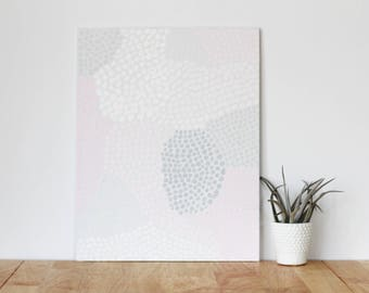 """gray wall art acrylic painting, """"spots"""" - are you my bestie, flat 11x13 canvas, gift for friend, best friend, portrait, gift, wall art"""
