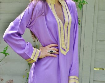KAFTAN SUMMER 10% SALE Mariam Style Lilac Caftan Kaftan- perfect for Christmas gifts, loungewear,resortwear, lounge, birthday gift, beach co