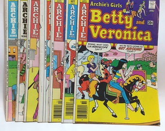 7 Vintage Archie comics - giant series oversized - Archie's girls Betty and Veronica