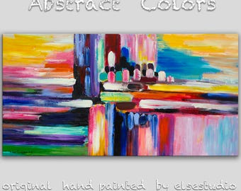 """Original oil Painting Wall Art Abstract Painting 48"""" Canvas  Wall Decor Original Modern Home Deco, Wall Hanging,  by Tim Lam"""