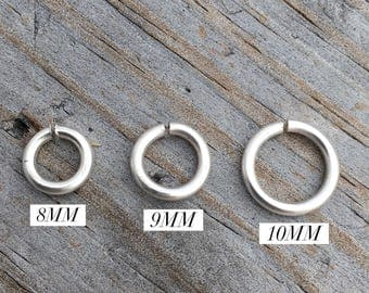 Sterling Silver Jump Rings Sterling Silver Open Jump Ring 14ga. Sterling Silver Jewelry Supply Finding USA