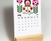 2018 Desk Calendar / Modern Floral Calendar