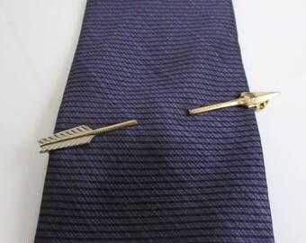 Gold Arrow Tie Bar, Tie Clip, Tie Clasp - Vintage Anson, Worn