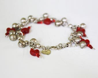 Bracelet Heart and Bali Beads