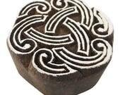 Traditional Spiral Designe Wooden Printing Block, Wall Paper Block, Designer Stamp, Indian Art Wood Craft, Handmade Stamp By 1 Pcs PB600