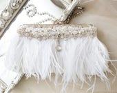 white bridal clutch, bridal purse, beaded evening bag, rhinestone clutch, holiday wedding clutch bag, lace purse, 1920s bridal purse