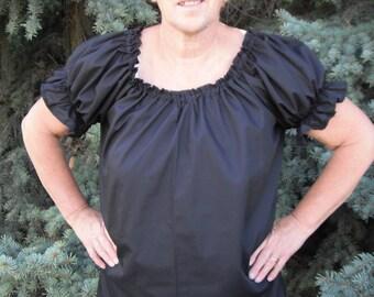 Womens (3XL, 4XL, or 5XL) Renaissance Faire Short Sleeve Chemise Blouse