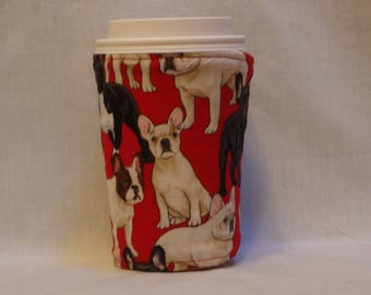 ARTI REVERSIBLE Coffee cup sleeve, TERRIER,  several sizes