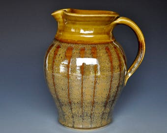 Golden Sunset Pitcher Ceramic Pitcher Pottery Pitcher Ceramic Pottery Jug C