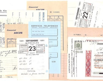 20 OFFICE papers - Vintage Ephemera Assorted Pack of PAPER