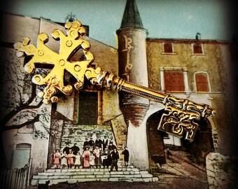 Medieval Key Brooch