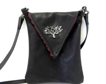 ON SALE Leather Crossbody / Crossbody Bag / Black Leather Purse / Small Black Purse / Cross Body Bag / Cross Body Purse / Crossbody / Leathe