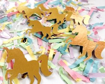 Gold, Unicorn, Party Decorations, Confetti, Unicorn Birthday Party, Magical Unicorn, Pastel Rainbow, Unicorn Party Decor, Pastel Confetti