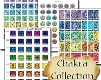 ON SALE 4 pk CHAKRA Collage Sheet Collection