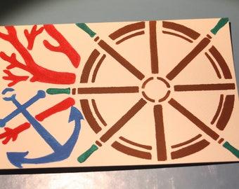 Sea Sailing Watercolor Post Card, Nautical Post Card, Hand Painted Post Card, OOAK, Ready to Ship