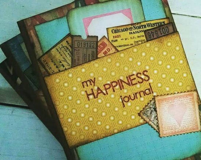 Featured listing image: Happiness Journal Notebook Smashbook Art Journal with Unlined Pages