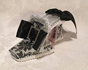 Catherine de Medici High Heel Paper Shoe Fine Art Collectible Sculpture, One of a Kind