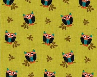 Michael Miller Who's Hoot Owl Fabric One Yard