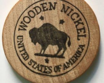 Wooden Nickel from Skokie, Illinois