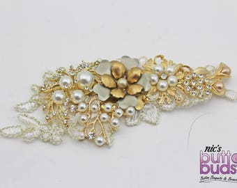 Bridal Hairpiece - gorgeous gold!