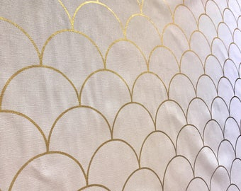 Metallic Gold Scallop fabric by the yard