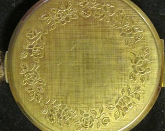 Vintage Stratton England Gold Tone Compact