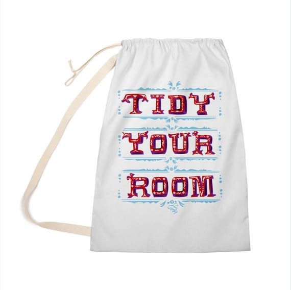 "TiDY YOUR ROOM - Laundry Bag - Clothing Bag - 28"" x 36"" - iOTA iLLUSTRATiON"