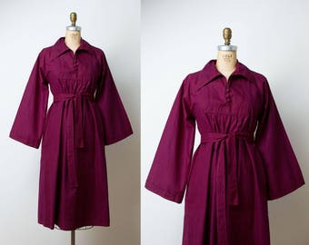 Vintage Afghani Cotton Dress / 1970s Folk Dress