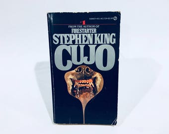 Vintage Horror Book Cujo Stephen King 1982 First Edition Paperback