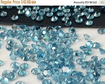 65% MEGA SALE 1 CTW Swiss Blue Topaz Stones, 3mm Swiss Blue Topaz Solitaire Shape, Loose Topaz, Original Natural Topaz Jewelry - Ks53