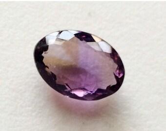 ON SALE 65% Ametrine Faceted Oval Cut Stone, 10.5x13.8mm Ametrine Ring, 7.10 Carats, Loose Oval Ametrine Gemstone, Ametrine Birthstone - KRS
