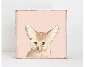 fennec fox safari nursery art  boho nursery prints, copper baby nursery decor- animal prints nursery decor modern nursery redtilestudio