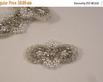 ON SALE Petite Rhinestone and Pearl Applique-One Piece