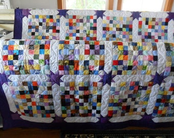 Purple Stars Corners Quilt