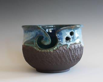 Yarn Bowl, handmade stoneware pottery,handmade ceramic yarn bowl, READY TO SHIP