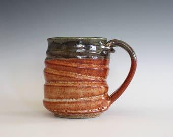 Pottery Mug, 12 oz, unique coffee mug, handmade cup, handthrown mug, stoneware mug, wheel thrown pottery mug, ceramics and pottery