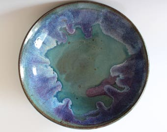 Handmade Ceramic Platter, pottery platter, wheel thrown, stoneware, ceramics and pottery, ceramics by Kazem Arshi