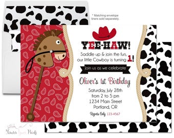 Cowboy Birthday Invitation  Cowboy Birthday Invite - Cowboy Party Invitation - Cowboy Party Invite - Cowboy Invitation - Stampede Invitation