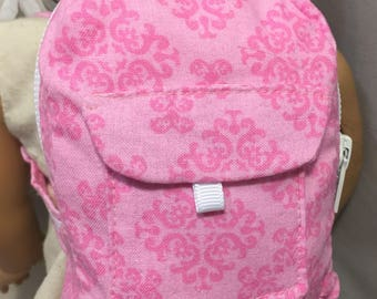 18 Inch Doll Backpack / Build A Bear Light Pink Backpack / Doll School Bag / Back to School / Gift Card Holder