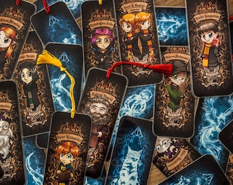 Harry Potter Character Bookmarks With Tassels