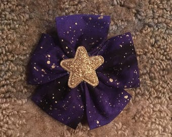 Purple and Gold Hair Clip