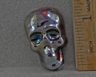 Handmade Raku  Skull Head Cabochon