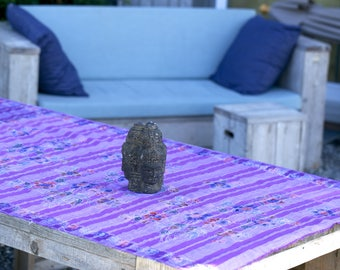 Vintage Balinese handwoven and hand painted batik for a scarf, tablecloth, bed decoration or fabric wall art