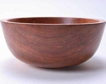 "Wild Black Cherry Wooden Salad Bowl #1674  11"" X 4 3/4"""