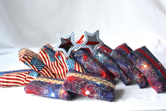 Baby Shower Favors, Set of 10, Kleenex Pocket Tissue Holders, 10 Handmade Patriotic Party Favors, Bachelorette Party Favors Gifts